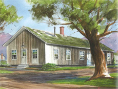 Sketch of original Isabella County Courthouse